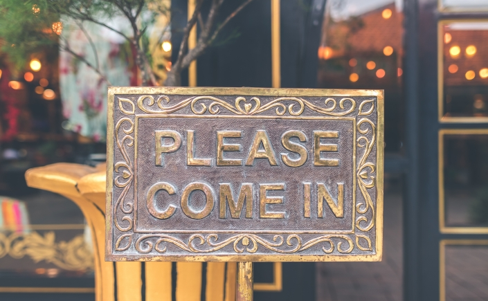 Please come in sign