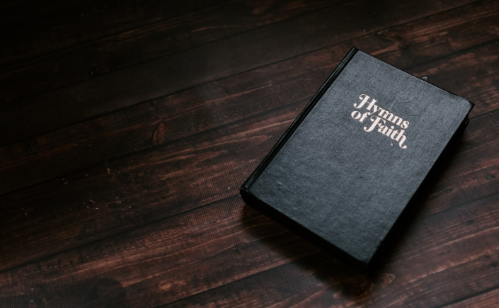Hymn book photo by Kelly Sikkema